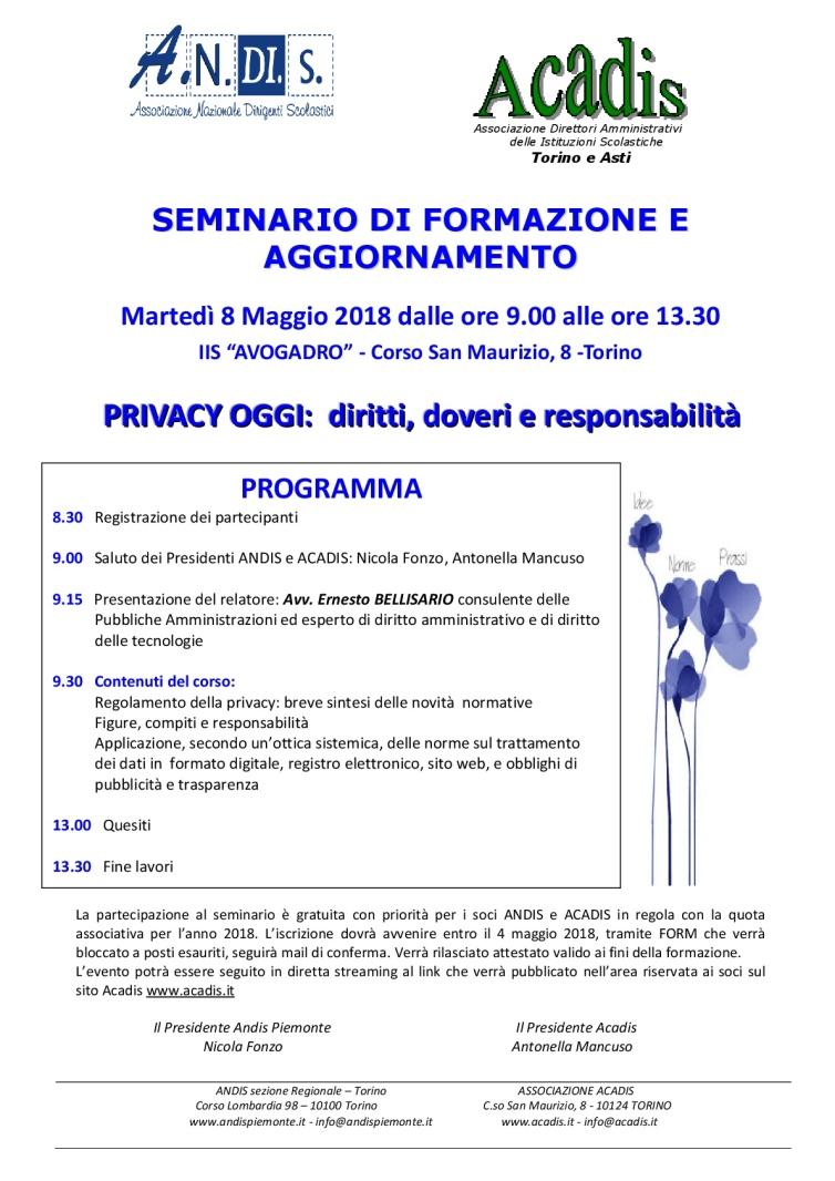 Acadis e Andis Programma seminario privacy IIS Avogadro 8-5-2018-001